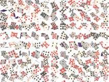 Hintergrund der fallenden Karten Lizenzfreies Stockfoto