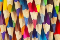 Hintergrund der farbigen Bleistifte für Kunstnahaufnahme Stockbild