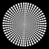 Hintergrund in der Form von weißen Strahlen in Form eines Kreises auf einem schwarzen Hintergrund vektor abbildung