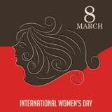 Hintergrund der Frauen Tages Lizenzfreies Stockbild