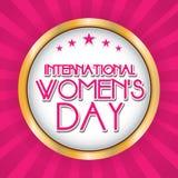 Hintergrund der Frauen Tages Stockbild