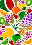 Hintergrund der frischen Frucht Stockbild