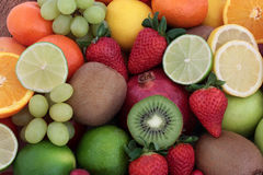 Hintergrund der frischen Frucht stockfotos