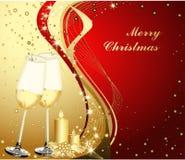 Hintergrund der frohen Weihnachten Lizenzfreies Stockbild