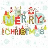 Hintergrund der frohen Weihnachten Stockbilder