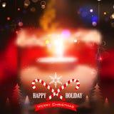 Hintergrund der frohen Weihnachten und des glücklichen neuen Jahres Stockfoto