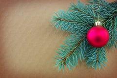 Hintergrund der frohen Weihnachten und des glücklichen neuen Jahres Lizenzfreie Stockbilder