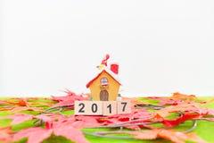 Hintergrund der frohen Weihnachten und nummerieren 2017 t Stockfoto