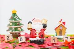 Hintergrund der frohen Weihnachten und nummerieren 2017 t Stockfotografie