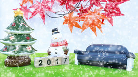 Hintergrund der frohen Weihnachten und nummerieren 2017 t Stockbild