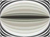 Hintergrund der gekrümmten Linien der schwarzen und grauen Farbe auf abstrakte Art im Vektor, der Ovale bildet lizenzfreies stockbild