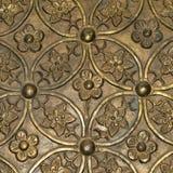 Hintergrund der goldenen Blumen Lizenzfreies Stockbild