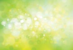 Hintergrund der grünen Lichter des Vektors Stockbilder