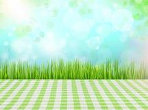 Hintergrund der grünen Plattform Stockfoto