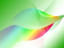Hintergrund der grünen Welle Stockfotos