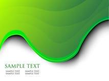Hintergrund der grünen Welle Stockbild