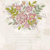 Hintergrund der Handbetragblumen, Vektor Lizenzfreies Stockbild