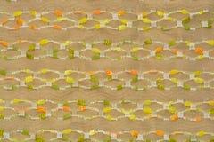 Hintergrund der hellbraunen gestreiften Gewebeweinlese Lizenzfreie Stockfotografie