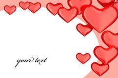Hintergrund der Herzen 3d Lizenzfreies Stockbild