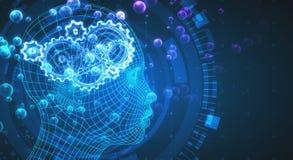 Hintergrund der künstlichen Intelligenz Stockfoto