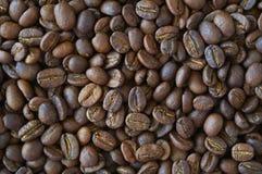 Hintergrund der Kaffeebohnen Stockfotos