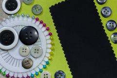 Hintergrund der Knopfangelegenheit Stockbild