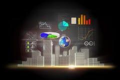 Hintergrund der kommerziellen Daten Lizenzfreie Stockfotografie