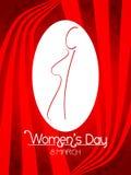 Hintergrund der kreativen Frauen Tages. Stockbild