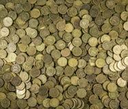 Hintergrund der Münzen Viele Münzen Stockbilder
