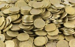 Hintergrund der Münzen Viele Münzen Stockfotos