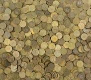 Hintergrund der Münzen Viele Münzen Lizenzfreies Stockfoto