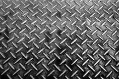 Hintergrund der Metalldiamantplatte Stockfotografie