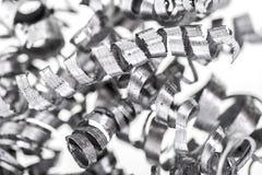 Hintergrund der Metallschnitzel Stockfotos