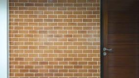 Hintergrund der modernen Backsteinmauer Stockfotografie