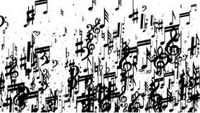 Hintergrund der musikalischen Anmerkung stock abbildung