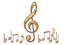 Hintergrund der musikalischen Anmerkungen Stockbilder