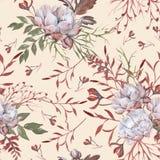 Hintergrund der Rosen Nahtloses Muster lizenzfreie stockbilder