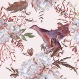 Hintergrund der Rosen Nahtloses Muster lizenzfreies stockbild