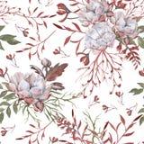 Hintergrund der Rosen Nahtloses Muster stockfoto