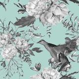 Hintergrund der Rosen Nahtloses Muster stockbilder