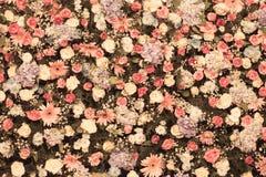 Hintergrund der schönen Blumenhochzeitsdekoration Stockbild