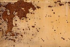 Hintergrund der Schalenfarbe und des rostigen alten Metalls Lizenzfreies Stockbild