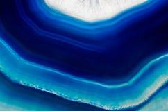 Hintergrund der Scheibe des blauen Achatkristalles lizenzfreies stockbild