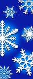 Hintergrund der Schneeflocken Stockbild