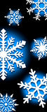 Hintergrund der Schneeflocken lizenzfreie stockbilder