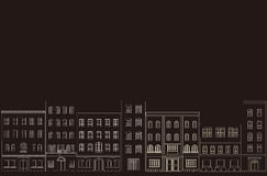 Hintergrund der Stadt. Stockbild