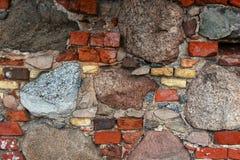 Hintergrund der Stein- und Backsteinmauerbeschaffenheit Stockfotografie
