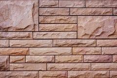 Hintergrund der Steinwand gemacht mit Block Stockbilder