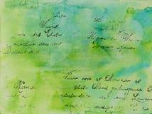 Hintergrund in der Technik von Scrapbooking im blauen Grün tont Lizenzfreies Stockbild