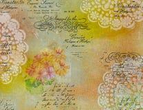 Hintergrund in der Technik von Scrapbooking in der multi Farbe tont Lizenzfreie Stockfotografie